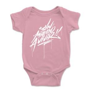 """Bodie bebé rosa """"SIN MIEDO""""..."""